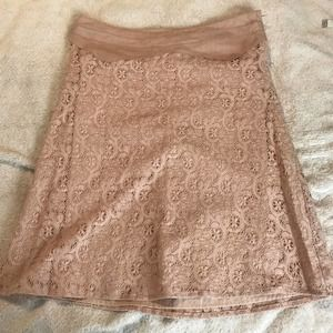 Mayle Pink Crochet Lace Overlay Skirt 6
